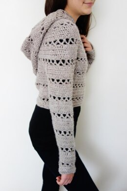 Hooded Cropped Sweater