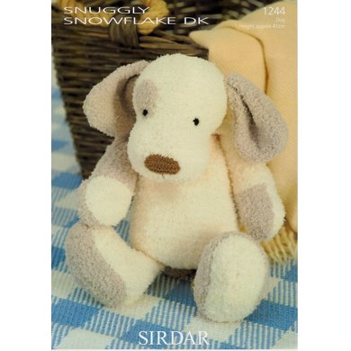 Patch the Puppy in Sirdar Snuggly Snowflake DK - 1244