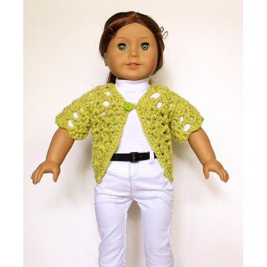 Short Sleeve Sweater or Shrug for American Girl or other 18 inch dolls