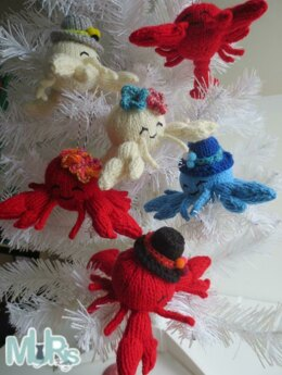 Loveable Lobsters Hanging Ornament
