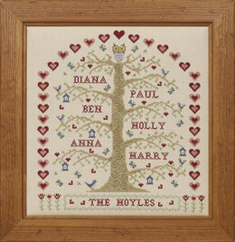 Historical Sampler Company My Family Tree - Natural Cross Stitch Kit