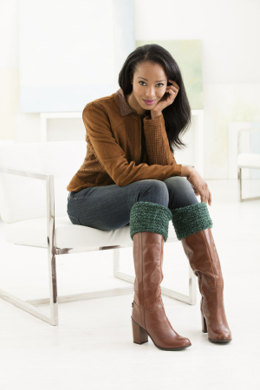 Cozy Boot Toppers in Lion Brand Wool Ease Tonal - L50307 - Downloadable PDF