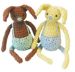 Easter Bunny Toy in Hoooked RibbonXL - Downloadable PDF