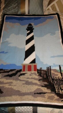 Cape Hatteras Lighthouse Afghan