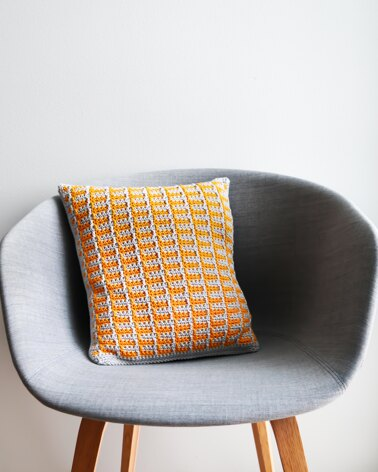 Mosaic Crochet Coasters and Pillow