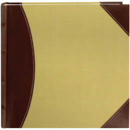 "Pioneer 2-Up High CapacityPhoto Album 8""X8"" - Brown & Beige"