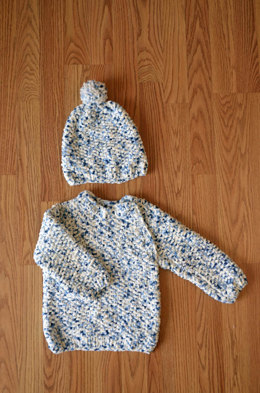 Snowbaby Set in Universal Yarn Bella Chenille