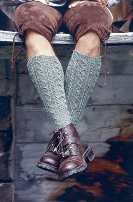 Man's Knee Length Socks in Regia 4 Ply Tweed - 5413 - Downloadable PDF