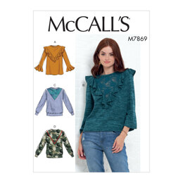 McCall's Misses' Tops M7869 - Sewing Pattern