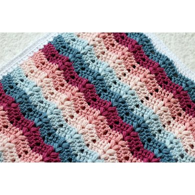 Ruby Baby Blanket Crochet Pattern By Cherry Blossom Crochet