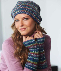 Hat & Wrist Warmers in Regia Zima Color 8-ply - R0080 - Downloadable PDF
