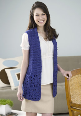 Bamboo Wool Vest in Red Heart Eco-Ways Bamboo Wool - WR1870 - Downloadable PDF