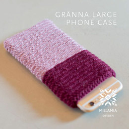 Gränna Large Phone Case in MillaMia Naturally Soft Merino - Downloadable PDF