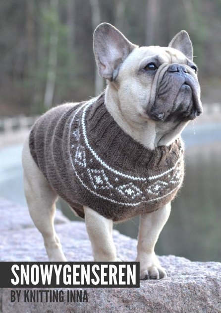 The Snowy Sweater by Knitting Inna Knitting pattern by Knitting Inna