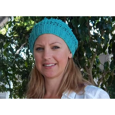 Blue Lacy Bobble Hat