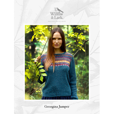 Georgina Jumper in Willow & Lark Woodland - Downloadable PDF