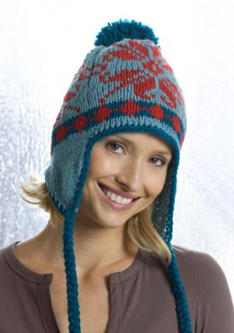 Ear Flap Hat in Red Heart Super Saver Economy Solids - KTV2001K