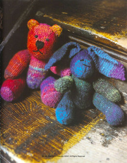 Rabbit Toy in Noro Kureyon