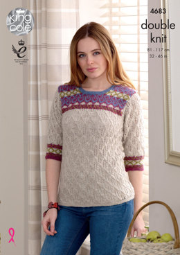 Sweaters in King Cole Panache - 4683 - Leaflet