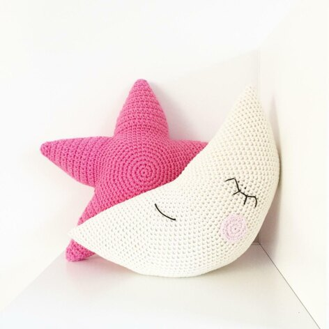 Moon and Star Pillow