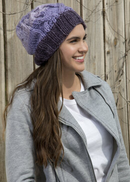 Frosted Orchid Toque in Premier Yarns Serenity Chunky Big Ombre - Downloadable PDF