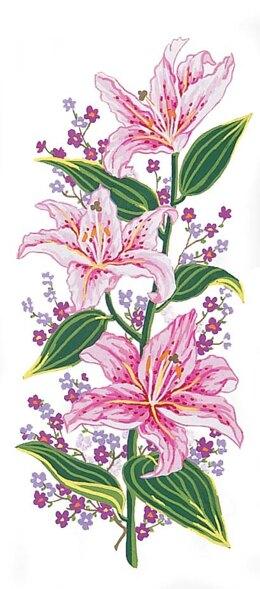 Grafitec Pink Lillies Tapestry Canvas