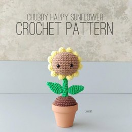 Chubby Happy Sunflower Crochet Pattern
