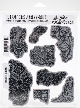 "Stampers Anonymous Tim Holtz Cling Stamps 7""X8.5"" - Fragments"