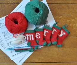 MERRY Christmas Stocking Ornaments