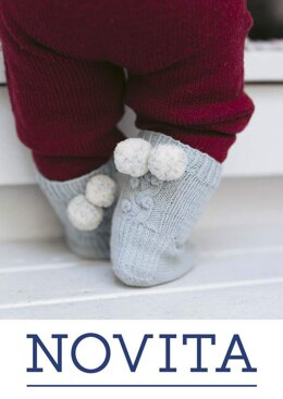 Snowberry Socks for Babies in Novita Baby Merino and Baby Merino Dream - Downloadable PDF
