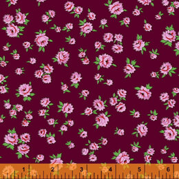 Windham Fabrics Posy - Little Rose Burgundy
