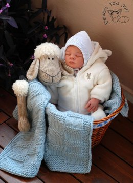 Baby Sheep Toy Blanket