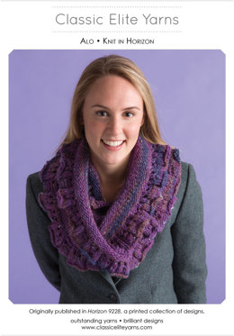 Alo Cowl in Classic Elite Yarns Horizon - Downloadable PDF
