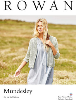 Mundesley Cardigan in Rowan Pure Linen - Downloadable PDF