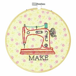 Dimensions Embroidery Kit with Hoop - Make (Crewel)