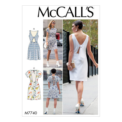 McCall's Misses' Dresses M7740 - Sewing Pattern
