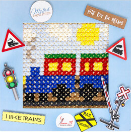 Luca-S My First Cross Stitch Kit - Train - BX05
