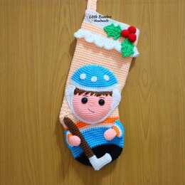Hockey Player Christmas Stocking