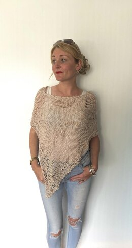 Delicate Cable Poncho
