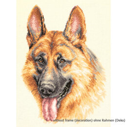 Magic Needle German Shepherd Dog Cross Stitch Kit