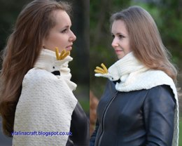 White Cockatoo Scarf
