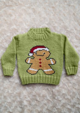 Intarsia - Gingerbread Man Chart - Childrens Sweater