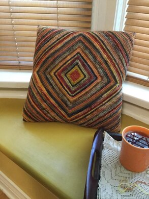 Scrappy Knit Pillow