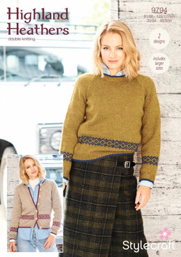 Sweater and Cardigan in Stylecraft Highland Heathers - 9794 - Downloadable PDF