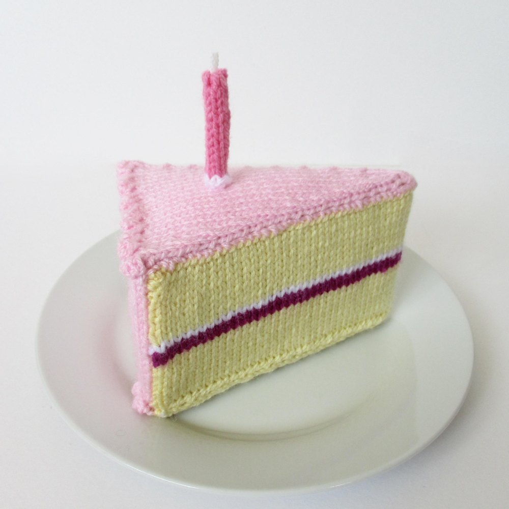 Knitted Cakes Free Patterns : Birthday Cake Knitting pattern by Amanda Berry Knitting Patterns LoveKnit...