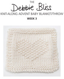 Knit-Along Advent Baby Blanket Week 3 in Debbie Bliss Mia