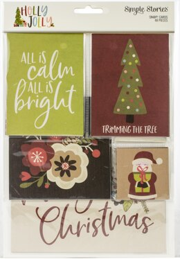 Simple Stories Sn@p! Card Pack Holly Jolly - Set of 48