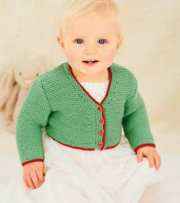 Children's V Neck and Round Neck Cardigans in Rico Baby Classic DK - 093