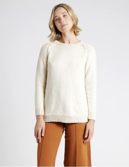 Dustin Sweater in Wool and the Gang Shiny Happy Cotton - Leaflet