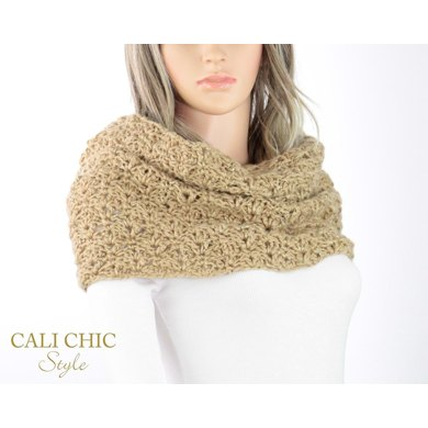 Elaine Crochet Snood Scarf 808s Crochet Pattern By Cali Chic Style